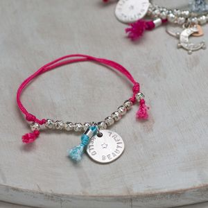 Personalised Sequin Beads Friendship Bracelet