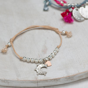 Personalised Moon Beaded Friendship Bracelet