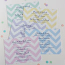 Big Chevron Christening Invitations