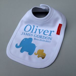 Personalised Baby Boy Bib - bibs
