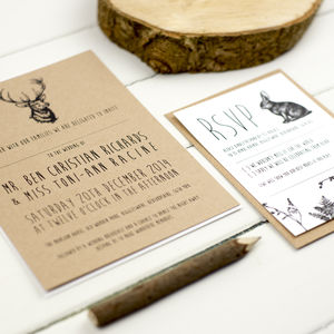 Enchanted Forest Wedding Invitation - wedding stationery