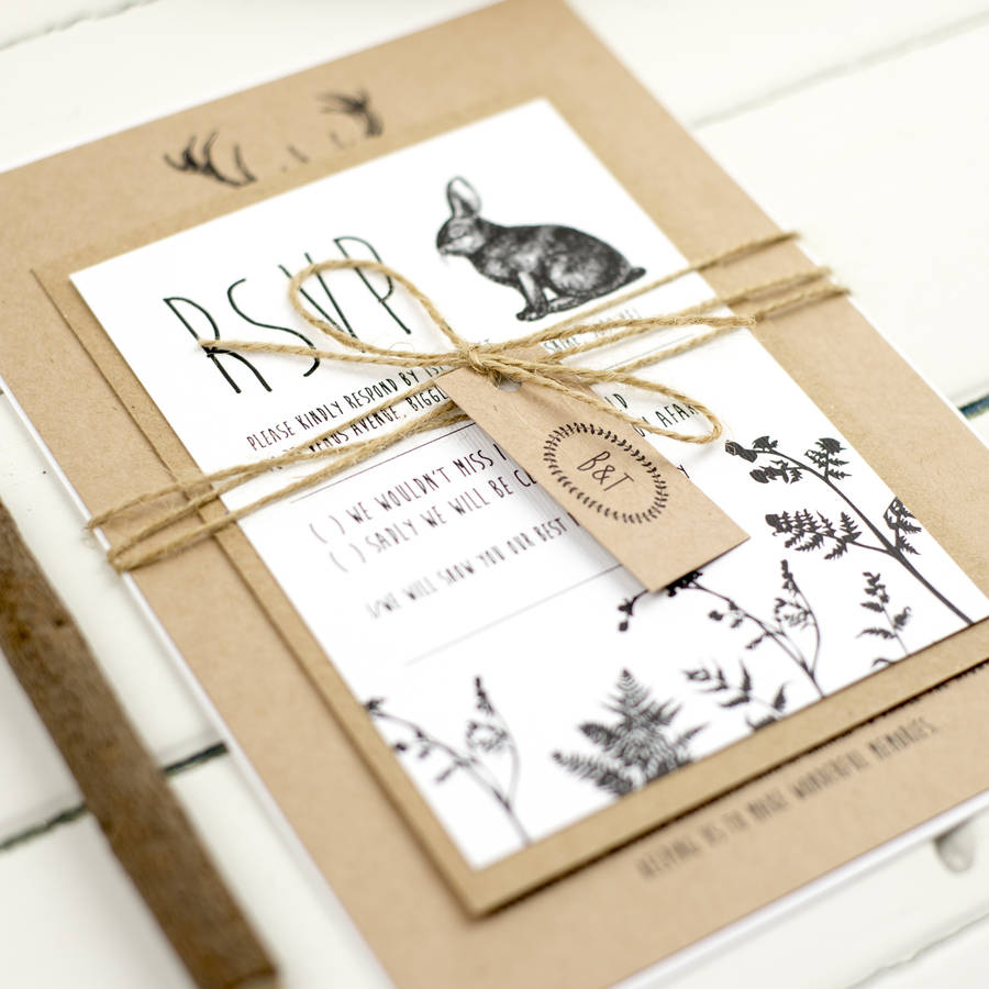 Enchanted Forest Wedding Invitation By Russet And Gray