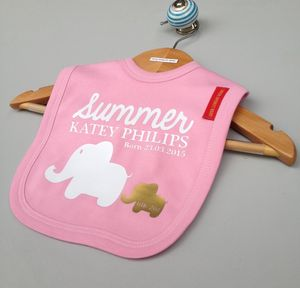 Personalised Baby Girl Bib - bibs