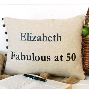 Birthday Cushion - 50th birthday gifts