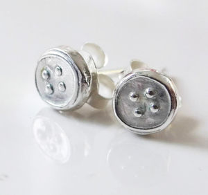 Small Silver Stud Earrings - earrings
