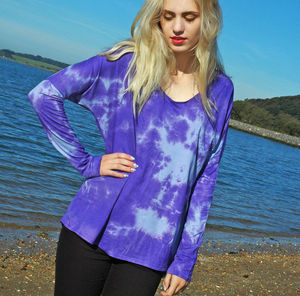 Purple Tie Dye Top - women's fashion