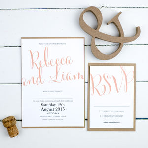 Calligraphy Script Wedding Invitation - wedding stationery