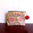 Flower Pattern Zip Up Bag