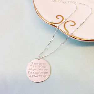 Personalised Message Necklace - wedding jewellery