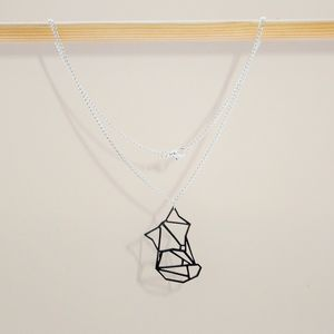 Origami Geometric Mini Fox Necklace - necklaces & pendants