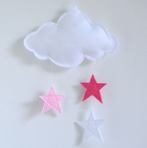 Cloud Nursery Mobile With Stars - baby's room