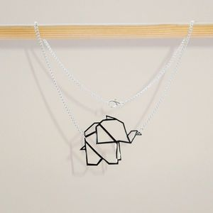 Geometric Baby Origami Elephant Necklace - necklaces & pendants