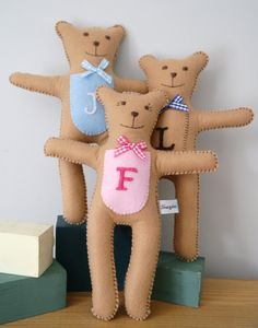 Christening Monogram Gift Bear - traditional toys & games
