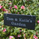 Personalised Engraved Slate Garden Sign
