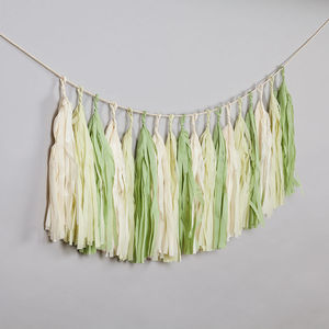 Mojito Handcut Tassel Garland - rustic autumn wedding styling