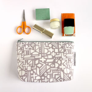 Wash Bag Shapes In Grey - make-up bags