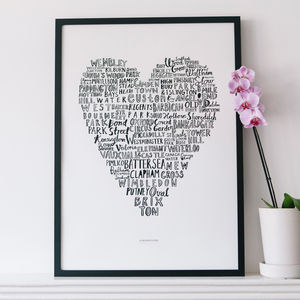 'My Heart Belongs To London' Art Print 50x70cm - posters & prints