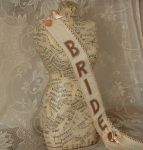 Hen Party Fabric Sash Cream And Antique Pink - hen party gifts & styling