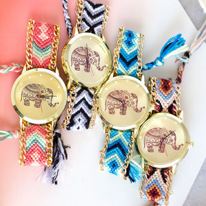 Elephant Friendship Bracelet Watch - women's accessories