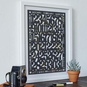 Papercut Perpetual Monthly Calendar