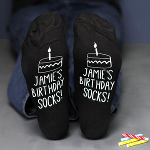 Personalised Cake Design Birthday Socks - 30th birthday gifts