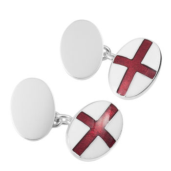 Personalised Silver St George Cufflinks
