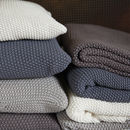 Moss Stitch Cotton Throw