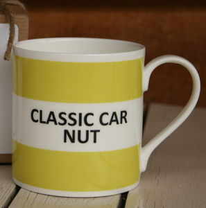 'Classic Car Nut' Fine Bone China Mug