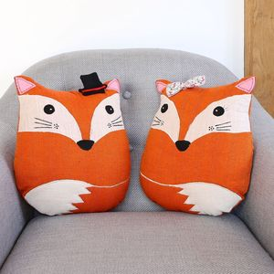 Fox Shaped Cushion - living room