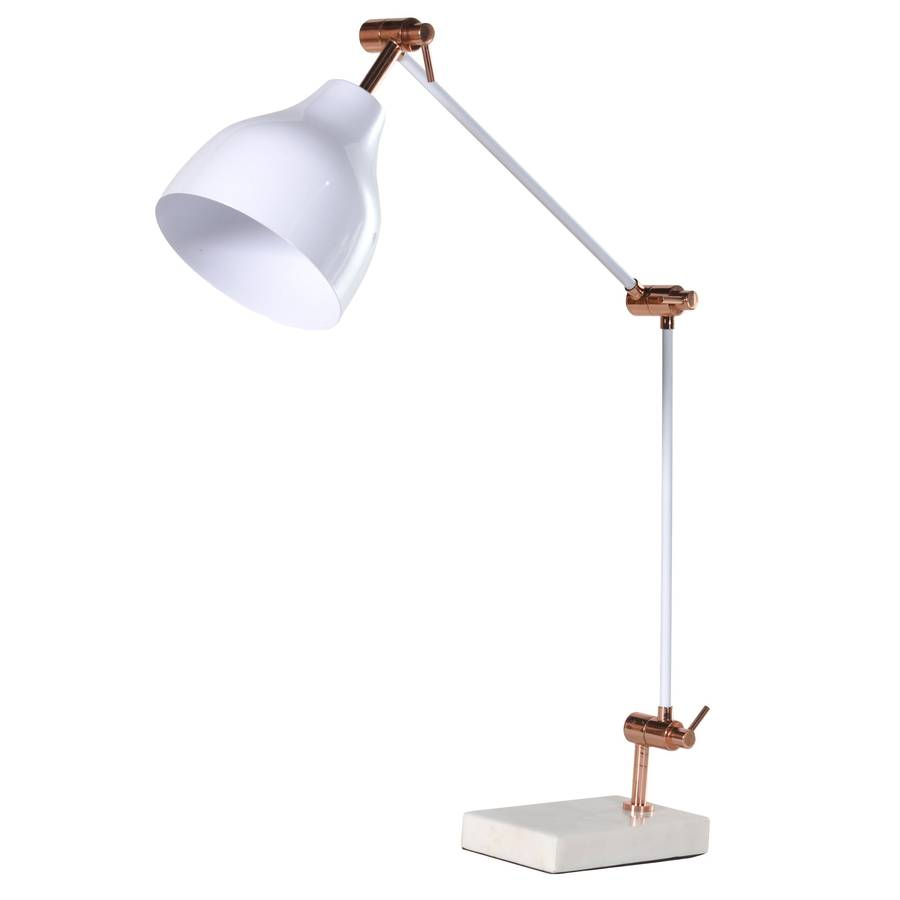 Copper And White Lamp