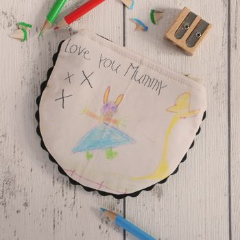Personalised Child's Drawing Mummy Coin Purse