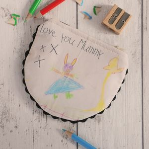 Personalised Child's Drawing Mummy Coin Purse - gifts from younger children