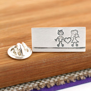 Sterling Silver 'Him And Her' Wedding Tie Pin - men's jewellery