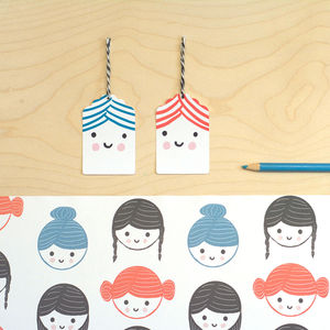 'Hair Styles' Gift Wrap Set - wrapping paper