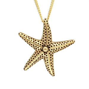 Gold Star Fish Pendant - women's jewellery