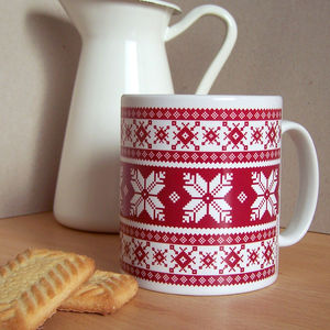 Fair Isle Mug - tableware