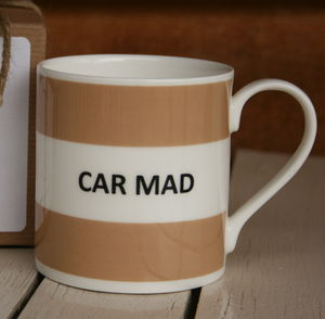 'Car Mad' Fine Bone China Mug