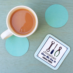 Personalised 'Our Mr Fix It' Coaster - tableware
