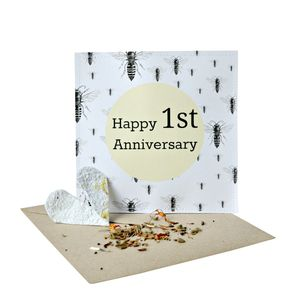 1st Anniversary Plantable Paper Gift Set - shop by category