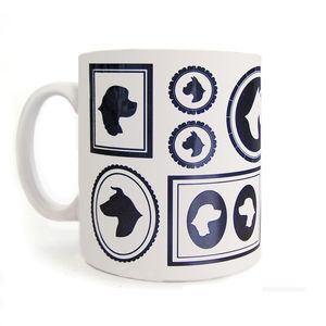 Dog Cameo Mug - tableware