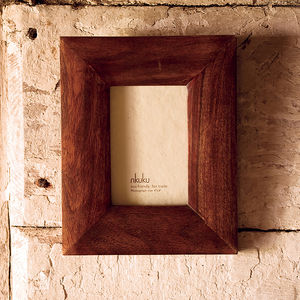 Fair Trade Eco Sheesham Photo Frame - picture frames