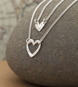 Double Heart Layered Necklace - necklaces & pendants