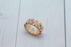 Rose Gold Daisy Ring