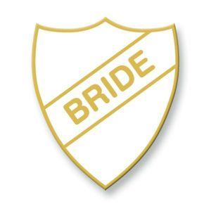 Enamel Bride School Badge