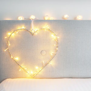 Heart Fairy Light Wreath - winter sale