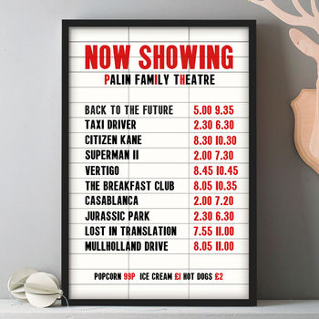 Personalised Favourite Film Cinema Marquee Print