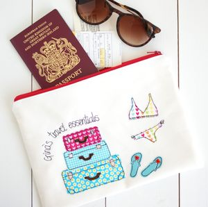 Personalised Travel Document Bag - frequent traveller