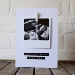 Personalised Polaroid Stamped Message Card - wedding cards