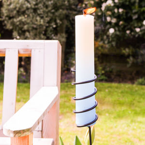 Metal Garden Torch And Candle - table decoration