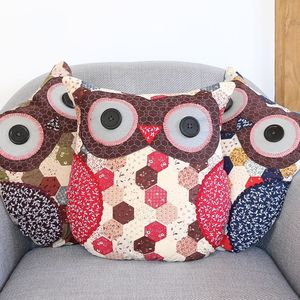 Patchwork Owl Cushion - home sale